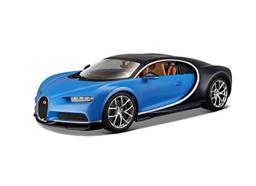 Bburago 11040BL 2016 Bugatti Chiron Blue 1/18 Diecast Model Car - 18 Die Cast Car
