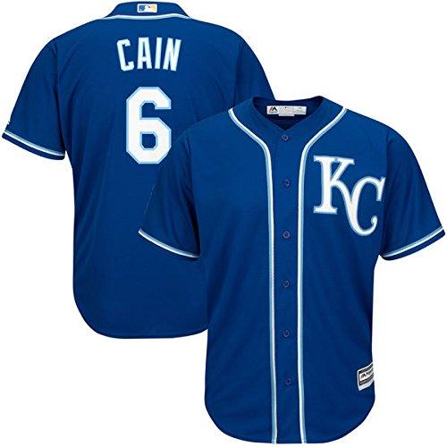 Authentic Baseball Jersey (Lorenzo Cain Kansas City Royals #6 MLB Youth Cool Base Alternate Jersey Royal (Youth Medium 10/12) )