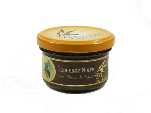 Tapenade Noire, Schwarze Oliven Zubereitung, 90g, Tapenade Noire aux Olives de Pays, Les Délices du Lubéron, Provence