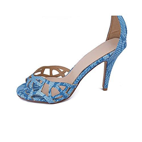 A Party Ginocchio Blue Del Spillo Ladies Ma04152 Sandali nbsp;tacco Minitoo tHwq674W