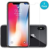 "GadgetMarket iPhone X Screen Protector [2 Pack], 2.5D Edge 9H Hardness HD Tempered Glass Screen Protector [Anti-Scratch-Crystal Clear] [5.8"" inch]"
