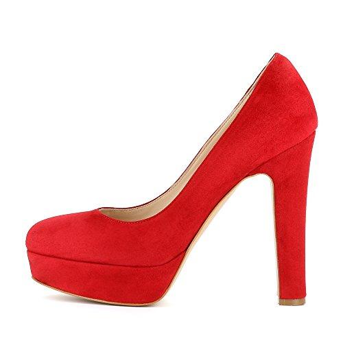 Riccarda Rojo mujer vestir Shoes Zapatos para de Evita de Piel UT5zwqaT8n