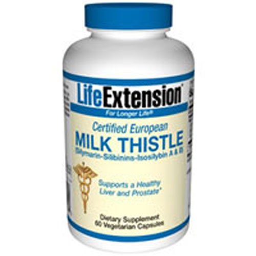 Certified European Milk Thistle, 750 mg, 60 Vcaps (Pack of 3)