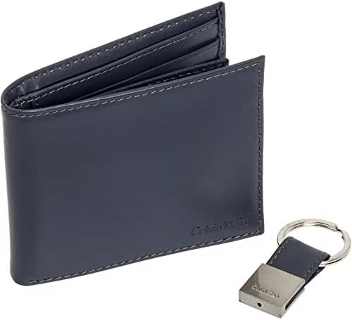 Calvin Klein Men's Calvin Klein Leather Bifold Wallet With Key Fob