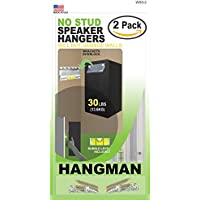 2 Pack Kit | Hangman No Stud Speaker Hangers - 4x 30 Pound Speaker Hanging Kit (WSS-2)