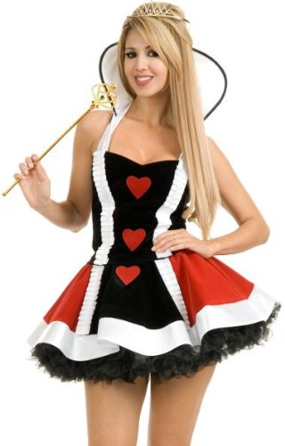 Enchanting Queen Of Hearts Costume (Enchanted Queen of Hearts Costume - Medium - Dress Size)