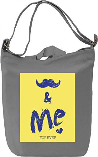 You And Me Borsa Giornaliera Canvas Canvas Day Bag| 100% Premium Cotton Canvas| DTG Printing|