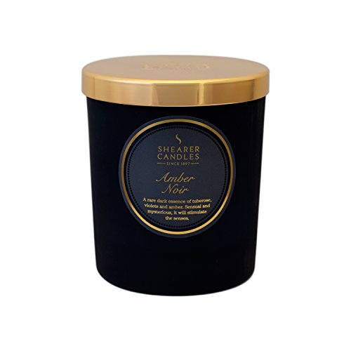 Shearer Candles Amber Noir Scented Jar Candle with Gold Lid - Black ()