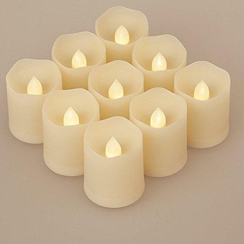 Feililong 9 LED Kerzen [Upgrade 2016 mit Timer, Fernbedienung & Batterien] - 3 Modi Dimmbare Teelichter LED Votive Weihnachtskerzen für Weihnachtsbaum, Weihnachtsdeko, Hochzeit, Geburtstags, Party (WHITE)