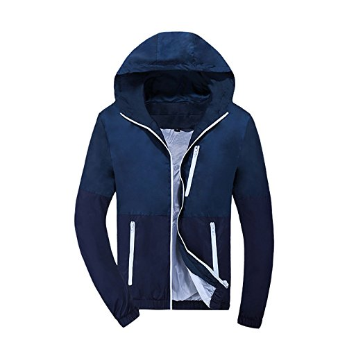 879662850f51 World2home 2018 Men Jacket Spring Summer Fashion Style Hooded Patchwork  Casual Jackets Male Thin Outwear OverCoat Windbreak Mens Jackets   Amazon.in  ...