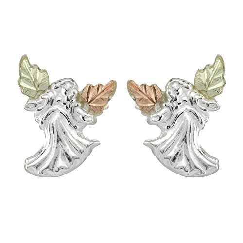 Gold Earrings Angel (Black Hills Gold Angel Earrings in Sterling Silver)