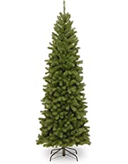 National Tree 6.5 Foot North Valley Spruce Pencil Slim Tree, ft, 6