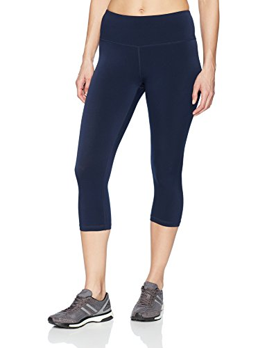 Amazon Essentials Women's Performance Capri Active Legging, Navy, Small (Danskin Capris)