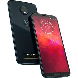"Motorola Moto Z3 Play 64GB - Dual SIM XT1929-6, 6.01"" Full HD+, Dual Camera, Global 4G LTE GSM Factory Unlocked Smartphone (Deep Indigo)"