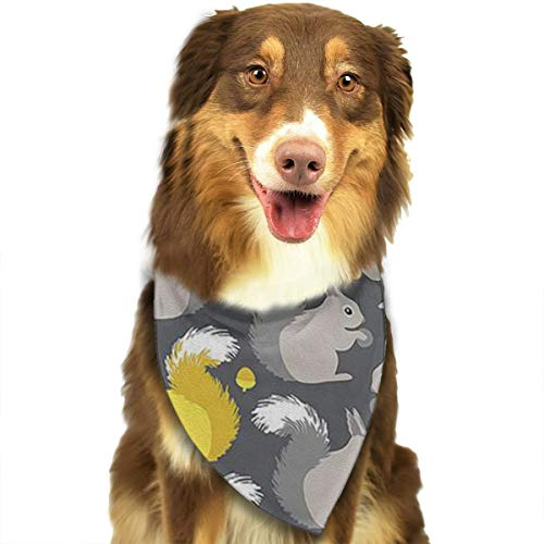 OURFASHION Squirrel Bandana Triangle Bibs Scarfs Accessories for Pet Cats and Puppies.Size is About 27.6x11.8 Inches (70x30cm). -