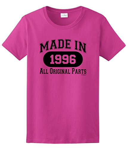 21st-Birthday-Gifts-Made-1996-All-Original-Parts-Ladies-T-Shirt