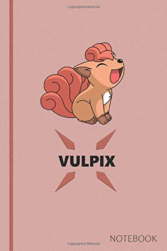 Vulpix: Anime Lover Notebook, 120 Squared Pages, Gift, School&Office, Pokemon, Vulpix por Anime Lover Office