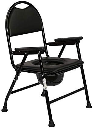 MMPY WC-Stuhl Schwangere Frau mit älterem untauglichem Patienten, Leichtklapp tragbarer Anti-Rutsch Duschstuhl, Removable