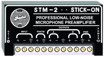 35 To 65 dB Gain RDL STM-2 Adjustable Gain Microphone Preamplifier