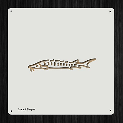 Lake Sturgeon Fish Freshwater Fishing Fishes Plastic Mylar Stencil for Painting, Walls and Crafts, Item 793998