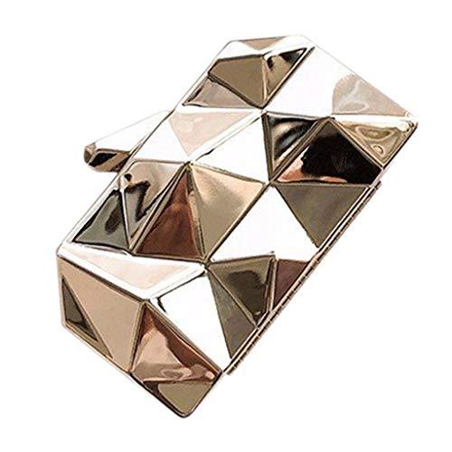 ♛TIANMI Bag Women's Messenger Bag Irregular Shoulder Bag Metal Chain Messenger Bag Ladies Mini Hand Bags