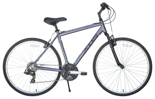 XDS Men's Cross 200 21-Speed Hybrid Bicycle, 52cm, Metallic Grey