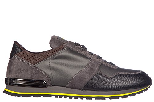 Tod's chaussures baskets sneakers homme en Nylon leather details gris
