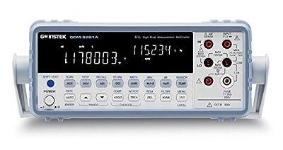 GW Instek GDM-8261A 1200000 Counts VFD Dual Display Digital Bench Top Multimeter, 100mV/1V/10V/100V/1000V DC Voltage Range