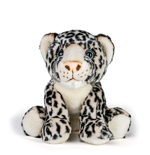 Wildlife Tree 12 Inch Stuffed Snow Leopard Plush Floppy Animal Kingdom Collection