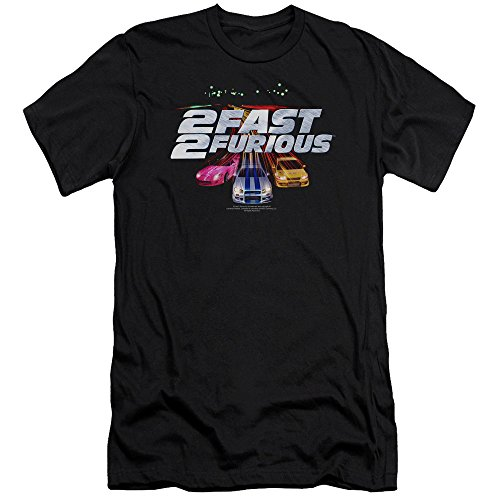 2 Fast 2 Furious 2003 Action Movie Racing Cars Logo Adult Slim T-Shirt Tee
