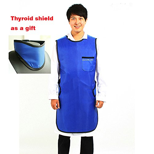 M Size X-Ray Protection Apron Protective Lead Vest with Thyroid Shield 0.35mmPb (Thyroid Lead Apron)