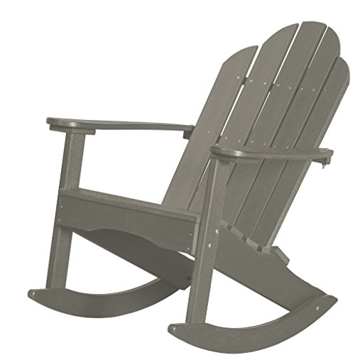 Wildridge Outdoor Recycled Plastic Classic Adirondack Rocking Chair - Ships in 10-14 Business Days (Chair Rocking Adirondack Classic)