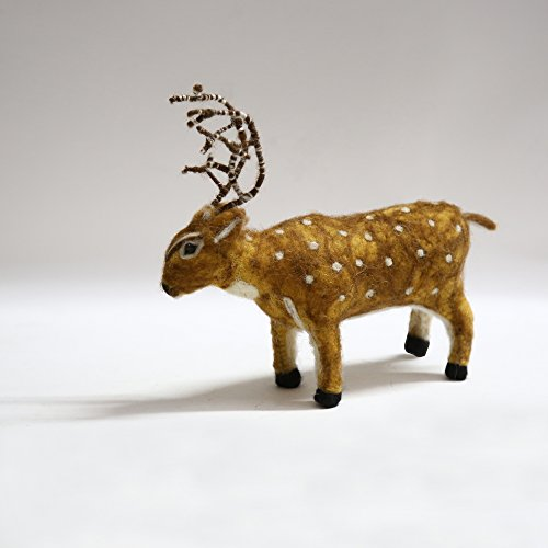 De Kulture Works Hand Made Showpiece Felt Deer Soft plush Toy 8x2.5x7 (LWH) (Multicolour)