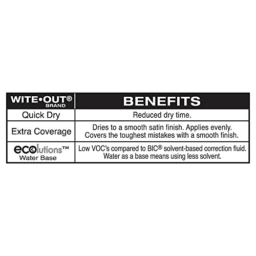 BIC Wite-Out Quick Dry Correction Fluid - 3 Pack (BICWOFQD324) by BIC (Image #3)