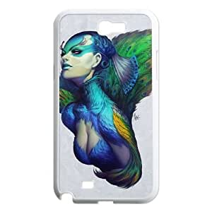 Samsung Galaxy N2 7100 Cell Phone Case White Peacock Queen M3S6MG