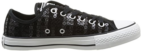 Star Chuck Shine Donna Femme Sneaker Nero All 8 schwarz Taylor Noir Converse Ox Sequin qtxYwddC