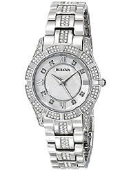 Bulova Womens 96L116 Swarovski Crystal Stainless Steel Watch