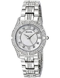 Women's 96L116 Swarovski Crystal Stainless Steel Watch