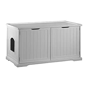 Merry Products Cat Washroom Bench, White 35