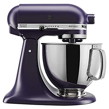 KitchenAid KSM150PSBV Artisan Stand Mixers, 5 quart, Black Violet