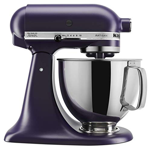 - KitchenAid KSM150PSBV Artisan Stand Mixers, 5 quart, Black Violet