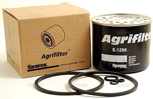 S-1296 Sparex Agrifilter Fuel Filter fits CAV Fuel Systems on John Deere IH Case Kubota Massey Ferguson and Many Others AGCO