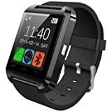 ShopAIS U8 Black Smart Notification Watch Bluetooth Watch ios Android Connect Smartwatch - Black