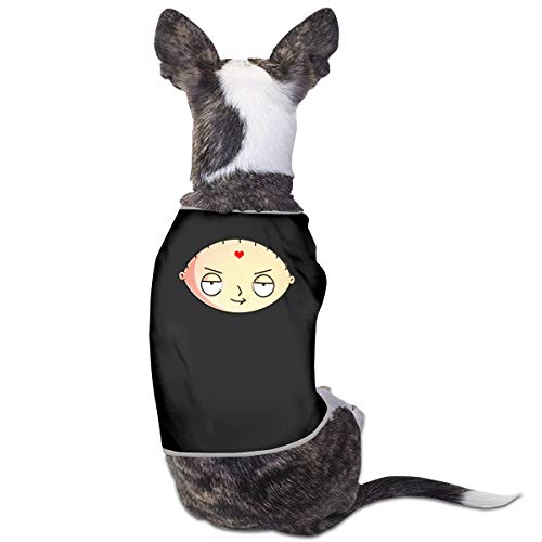 LSKXBC Animated Comedy TV Series Stewie Mom1 Lovely and Comfortable Pet Clothesv for Dogs and Cats S Black