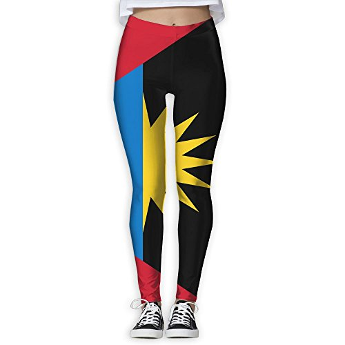NUNOFOG Flag Of Antigua and Barbuda Women's Yoga Pants Workout Capris Lightweight Yoga ()