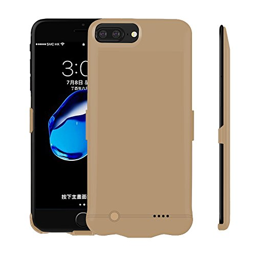 Lanyos Compatible for iPhone6/6s High Capacity Battery Case,Lanyos 8500mAh Portable Power Bank Battery Charger Case (5.5inch) -Gold