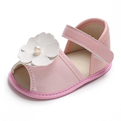 ♡QueenBB♡ Baby Girl Sandals Shoe,Toddler Kids Baby Princess Shoes Girls Sandals Flower Roman Sandals Princess Shoes