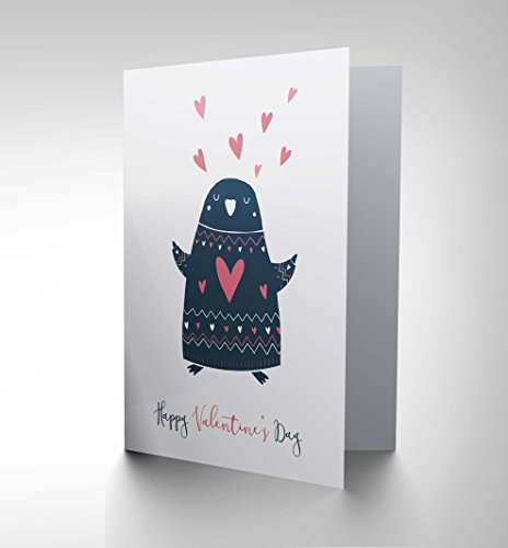 Penguin Valentine Cards - Wee Blue Coo Cards Valentines Love Penguin Cute Sweet Romance Greetings Card Cp3257