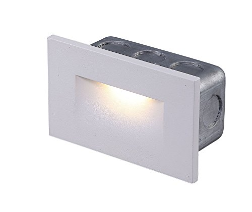 Cloudy Bay 120V LED Indoor Outdoor Step Light,3000K Warm White 3W 100lm,Stair Light,White Finish by Cloudy Bay (Image #7)