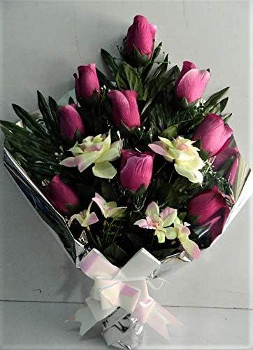 Mazzo Di Fiori Lutto.Bouquet Di Fiori Per Funerale Fiori Bianca Viola Lutto Morte